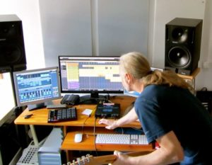 Level Pi recording in his Studio